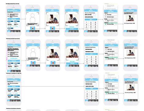 mobile application storyboard
