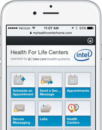 Intel Mobile App Take Care Health Systems