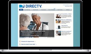 Direct TV Dashboard Take Care Health